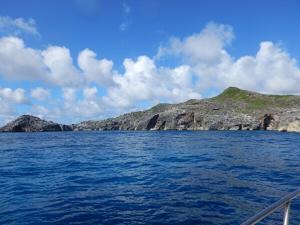 小笠原諸島の海からの風景