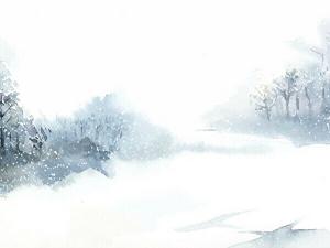 雪が降って積もった風景のイメージ画像