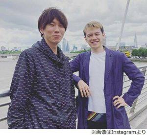 ウエンツ瑛士と古市憲寿がロンドンにいるところ