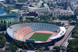 国立競技場の上からの写真