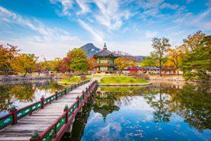 韓国の秋の風景