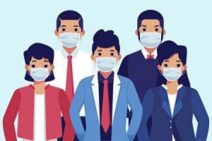 人々がマスクをしているイメージ