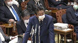 安倍総理のマスク姿での答弁