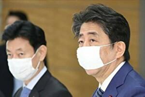安倍総理のマスク姿