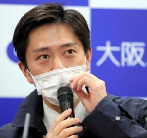 吉村知事のマスク画像