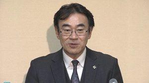 黒川検事長の会見の様子