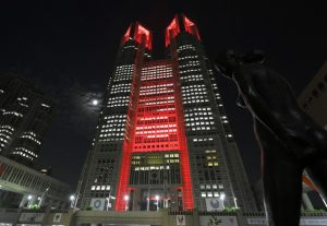 東京アラート発動時の東京都庁