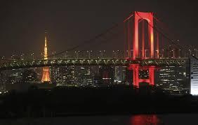 東京アラート発動時のレインボーブリッジ